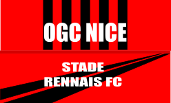 Place de foot - match Nice -Rennes