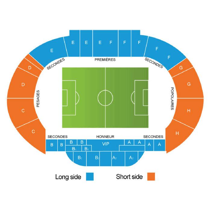 Place Tribune Le stade Louis II AS Monaco