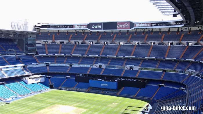 Place Tribune Le Stade Santiago Bernabeu, Real Madrid