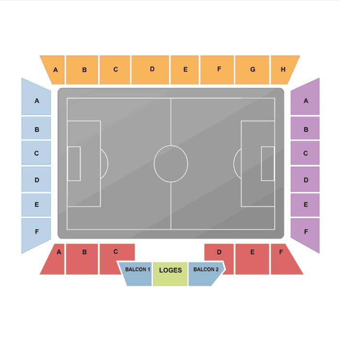 Place Tribune Stade de la Licorne Amiens