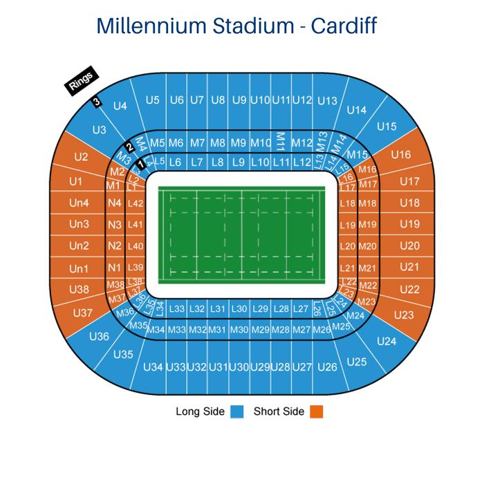 Place Tribune Millennium Stadium de Cardiff