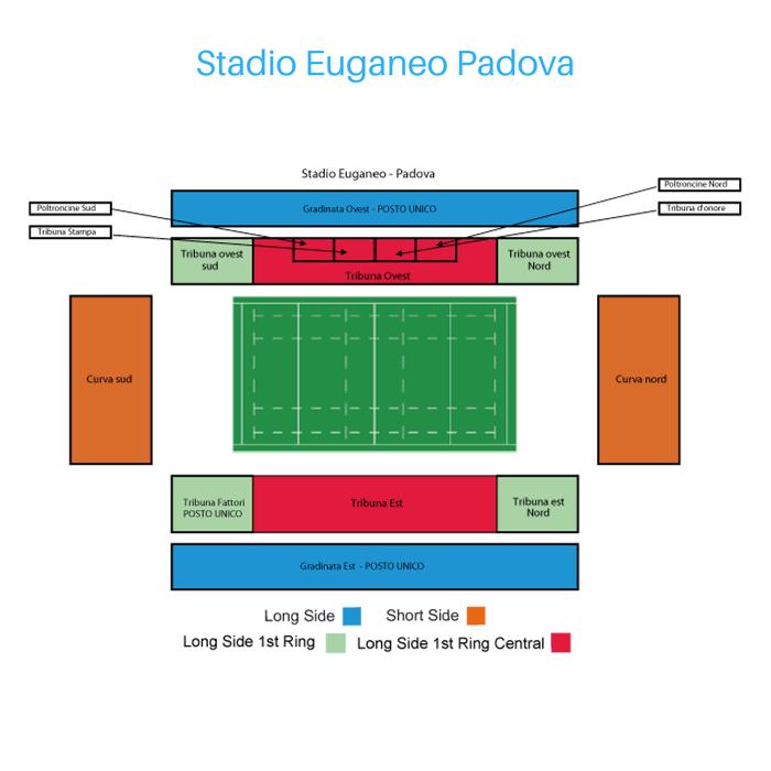 Place Tribune Stadio Euganeo Padova